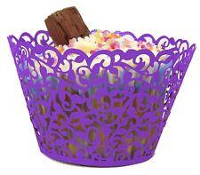 12/25/50/100x Filigree Vine Cupcake Wrappers Cases Laser Cut Wedding Birthday
