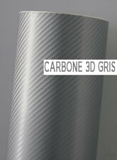 FILM VINYLE CARBONE 3D GRIS COVERING 20 x 10 cm