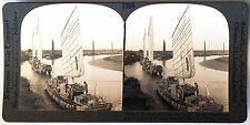 Keystone Stereoview US Army Goods, Pei-ho River, CHINA from the 1930's T400 Set
