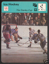 THE STANLEY CUP New York Rangers vs St Louis Blues 1977 SPORTSCASTER CARD 02-13