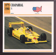 1979-1980 Chaparral 2K Johnny Rutherford Race Car Photo Spec Sheet Info CARD