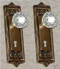 Egg&Dart French Door Crystal Knob Set-Fine Solid Brass-CUSTOM MADE-GUARANTEED