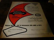 SIMCA - VOG - VOITURE D'OCCASION - Publicité de presse / Press advert !!! 1956 !