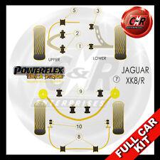 Jaguar XK8, XK8R - X100 (96-06) Powerflex Black Complete Bush Kit