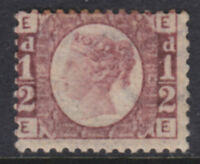 1870 1/2d ROSE RED SG48/9 PLATE 13 MINT