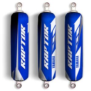 Blue White Yamaha Shock Covers Raptor YFM 250 350 660R *Limited Edition* (Set 3)