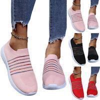 Damen Sneaker Sportschuhe Socken Turnschuhe Draussen Laufschuhe Freizeitschuhe