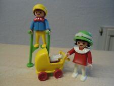 """Playmobil Rosa Serie  5403 """" Kinder mit Stelzen/Puppenwagen""""  gebraucht"""