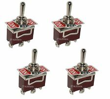 4 ON/OFF/ON SPDT 15A Toggle Switches 1/2 Mount