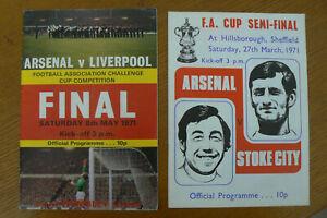 1971 ARSENAL V LIVERPOOL FA CUP FINAL PROGRAMME + SEMI