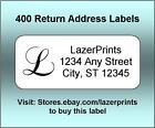 Внешний вид - Monogrammed & Personalized Return Address Labels.  400 Count, 1/2 x 1.75 Inch.