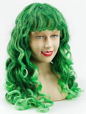 Long Vert Noir Temptress Perruque Frisé Style Halloween Déguisements