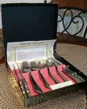 NEW Vintage Ballet Wallace and Sons Stainless Steel 16 Piece Set Flatware in Box