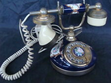 Telefono fisso Telcer gold plated 18-k in ceramica Sip vintage old italy