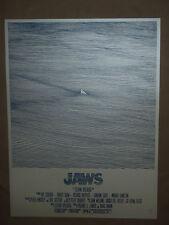 Jaws Bartosz Kosowski signed numbered movie poster art print Steven Spielberg