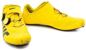 Mavic Cosmic Pro LTD Yellow Road Bike Shoes EU 43.3 US Men 9.5 Carbon 3 Bolt
