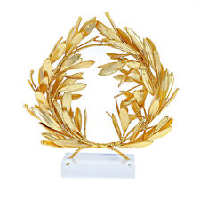 Olive Wreath - Real Natural Plant - Handmade 24k Gold Plated - Table Decor