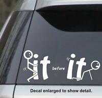 Fck off cursive custom window decal sticker lettering