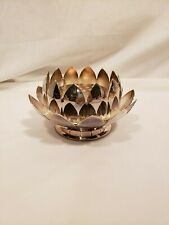3 Piece Flower Frog, Reed & Barton #3002 Lotus Flower Design, Silver Plate