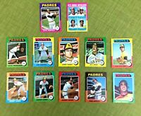 1975 TOPPS BASEBALL SAN DIEGO PADRES TEAM LOT 23 DAVE WINFIELD, WILLIE McCOVEY
