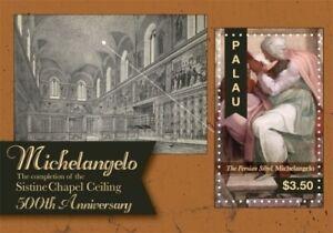 Palau - 2012 - Michelangelo 500th Anniversary - Souvenir Sheet  - MNH