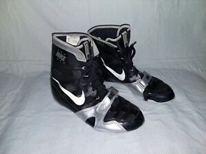 Nike HyperKo Boxing Boots Shoes Men's Size 10.5 Black and Silver