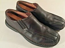 Clarks Loafers Slip On Brown Leather comfort Men Shoes Size 10.5