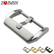 ZLIMSN Metal Buckle Stainless Steel Pin Clasp HQ Watch Bands Strap Electroplate