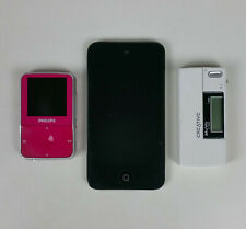 Lot Of 3 Mp3 Players Apple Ipod A1367 Creative Muvo V100 Philips Vibe *For Parts