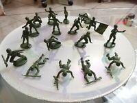 Lotto 17 Soldatini Atlantic scala 1/32 verde Chiaro USA Americani