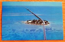 Vintage postcard W / Stamp Pigeon key Seven Mile Bridge Fla Keys B38