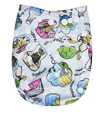 SEE DIAPERS ORGANIC BAMBOO TERRY BABY CLOTH DIAPER WITH 2 TERRY INSERTS TRAVELS