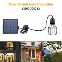 3W Solar Panel Power LED Birnen Licht tragbare Outdoor Camping Zelt-Energie S9E9
