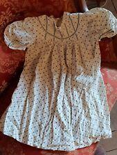 ROBE ANCIENNE ENFANT COTON de 1940 - T 2 ans