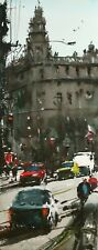 Landscape Painting Watercolor Original Barcelona Impressionism Streets  15x6 in