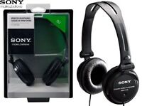 SONY MDR-V150 BLACK Sound Monitoring Stereo DJ Headphones Original / Brand New