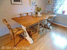 Oak Farmhouse Rectangular Table & Chair Sets