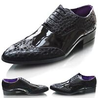 Mens New Casual Black Smart Formal Wedding Lace Up Shoes UK SIZE 6 7 8 9 10 11