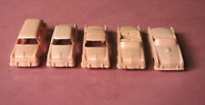 Vintage F&F MOLD CEREAL CARS Complete Set of Buckskin Tan 55 Fords Excellent Cd.