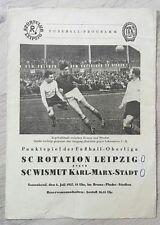 *RAR* Programm Rotation Leipzig Wismut Karl Marx Stadt 6.7.57 DDR 1.FC Lok Aue