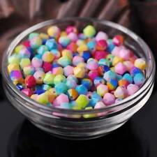 6mm 50pcs Bi-color Coated Bicone Faceted Opaque Glass Loose Beads DIY Findings