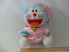 "NEW WITH TAGS! DORAEMON CAT IN PINK STAR PAJAMAS 12"" PLUSH - TAITO STUFFED TOY"