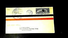 FDC 10cent Airmail C-10 Lindbergh stamp, St Louis, MO. !927 cancel  FDC Cachet