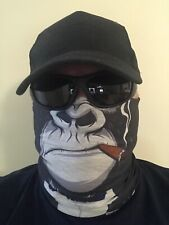 Stealth Creatures Face Sock™ - CIGAR APE  - Bandana Mask Neck Scarf Headwear UV