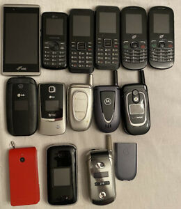 Lot of 14 Cell phone not working Cellular cell Phones, no return