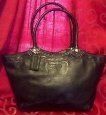 Gorgeous COACH Large Black Pebbled Leather Hobo Shoulder Bag Handbag Purse Tote