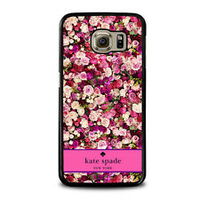KATE SPADE PINK FLOWER For Samsung Galaxy S3 S4 S5 S6 S7 Edge S8 Plus Note Case