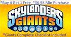 * Skylanders Giants Complete UR Set W Checklist *Buy 4 = 1Free*$6.98 Minimum👾 For Sale