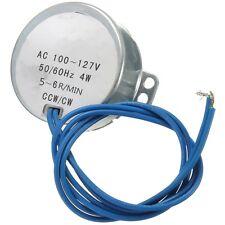 PLATO Giratorio Motor Síncrono Synchron 50/60Hz AC 100 ~ 127V 4W 5-6RPM/MIN CCW/CW