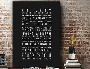 Etta James At Last | Decor Wall Art SONG LYRICS TYPOGRAPHY PRINT | CANVAS Gift